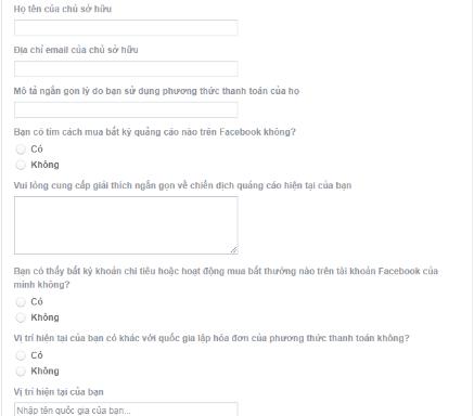Hướng dẫn khắc phục tài khoản quảng cáo Facebook bị vô hiệu hóa