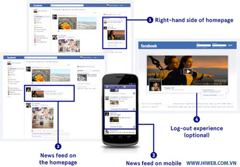 Các vị trí quảng cáo trên facebook