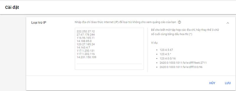 Chặn click ảo bằng cách chặn địa chỉ IP - HIWEB