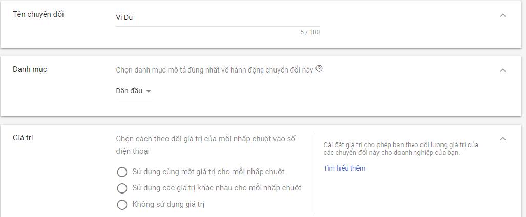 Hướng dẫn cài đặt theo dõi chuyển đổi gọi điện thoại trong Google Adwords - HIWEB