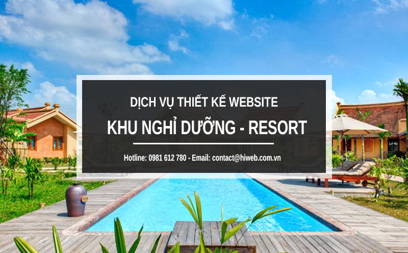 Thiết kế website khu nghỉ dưỡng - Resort - HIWEB