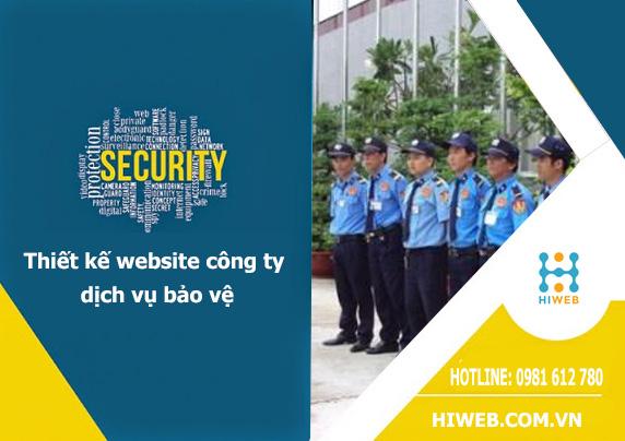 Thiết kế website công ty bảo vệ - HIWEB