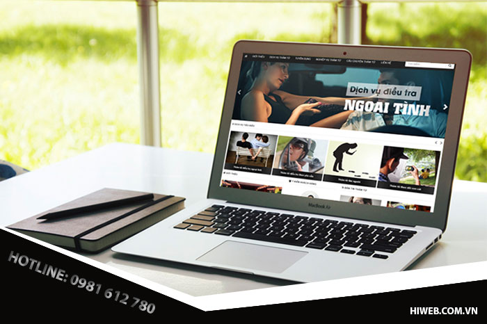 Thiết kế website dịch vụ thám tử bảo vệ - HIWEB