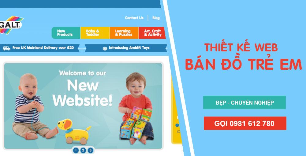 Thiết kế website bán đồ trẻ em - HIWEB