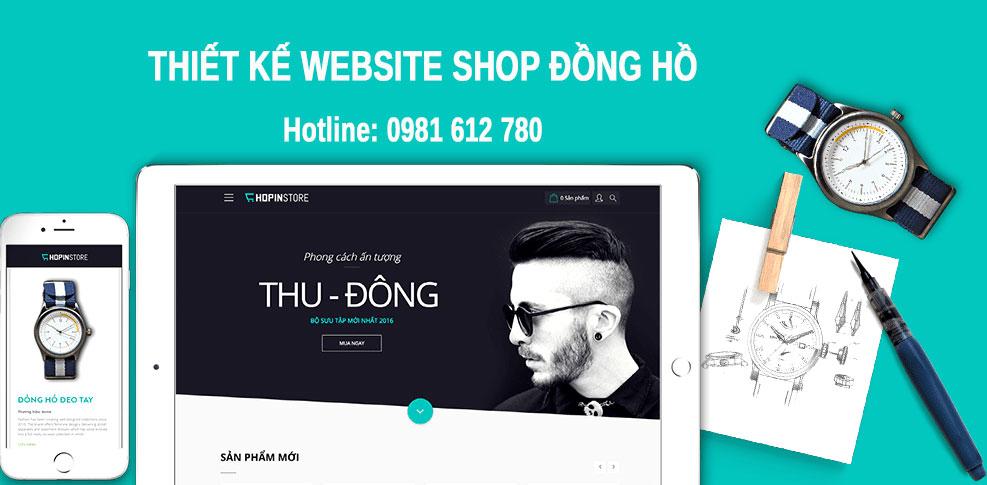 Thiết kế website bán đồng hồ  - HIWEB