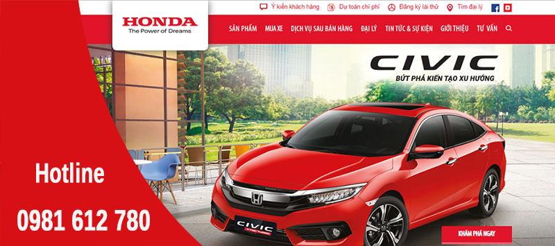 Thiết kế website bán hàng ô tô  - HIWEB