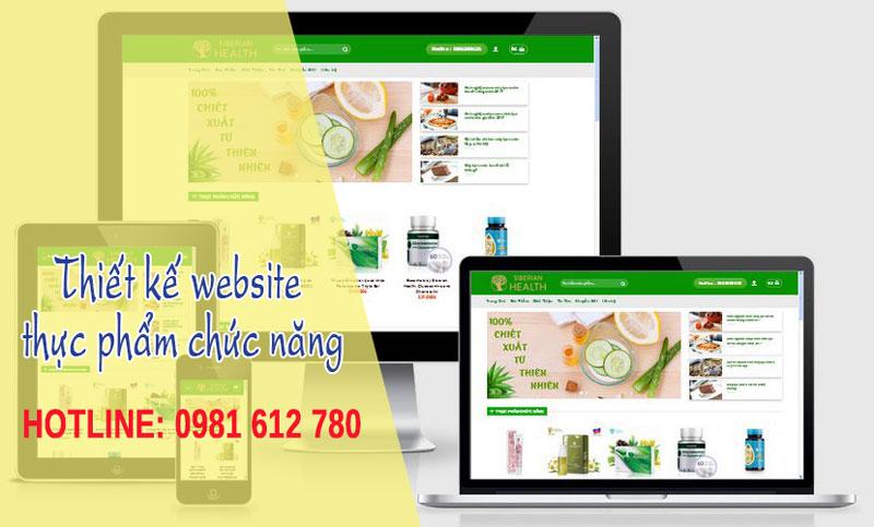 Thiết kế website bán thực phẩm chức năng - HIWEB