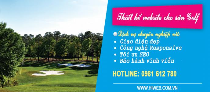 Thiết kế website cho sân Golf - HIWEB