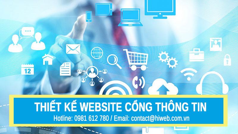 Thiết kế website cổng thông tin - HIWEB