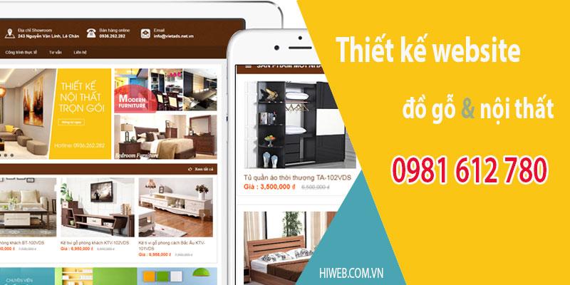 Thiết Kế website đồ gỗ nội thất - HIWEB