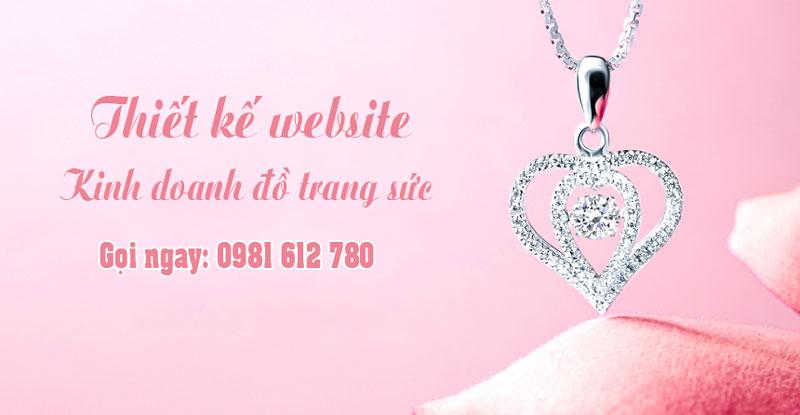 Thiết kế website kinh doanh đồ trang sức - HIWEB