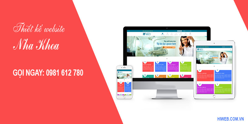 Thiết kế website nha khoa - HIWEB