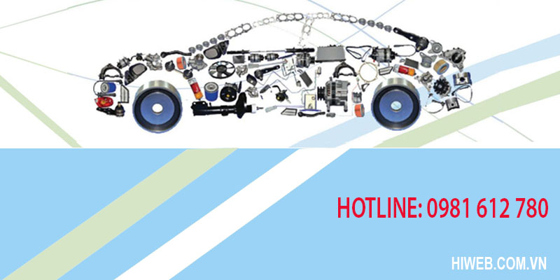 Thiết kế website phụ tùng ô tô - HIWEB