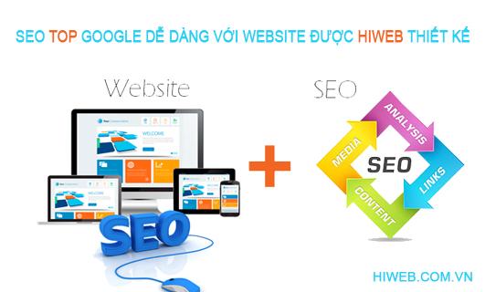 Thiết kế website seo top google - HIWEB