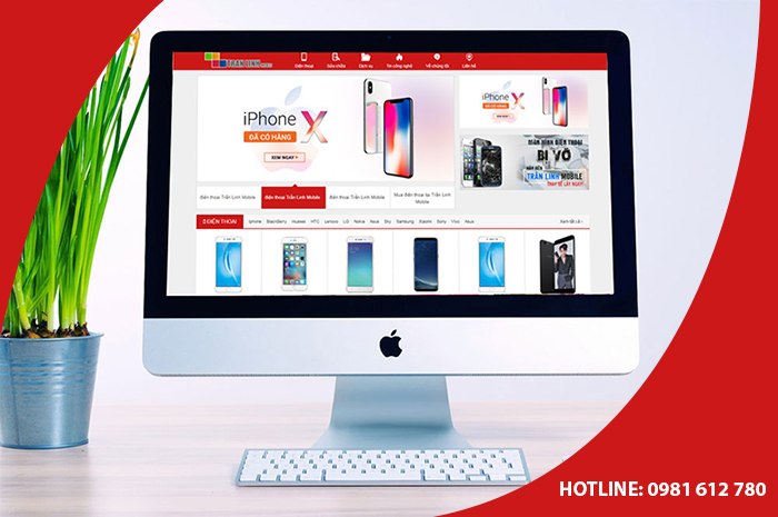 Thiết kế website shop bán điện thoại di động - HIWEB