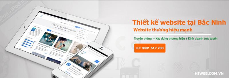 Thiết kế website tại Bắc Ninh - HIWEB
