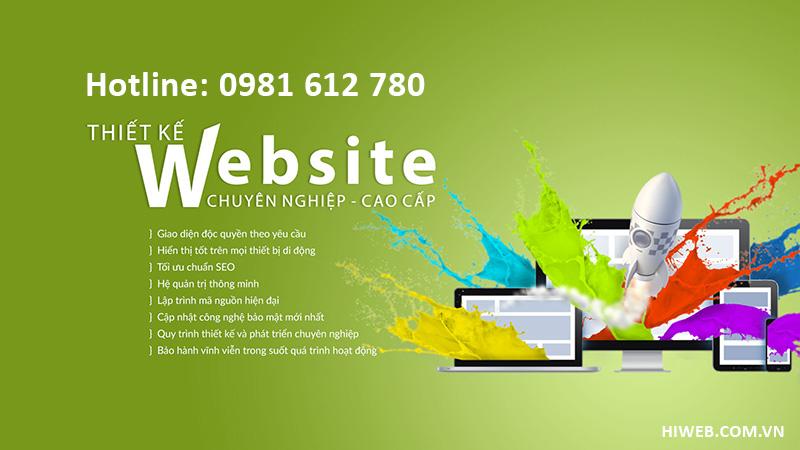 Thiết kế website tai Vĩnh Phúc - HIWEB