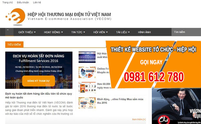 Thiết kế website Tổ chức - Hiệp hội - HIWEB