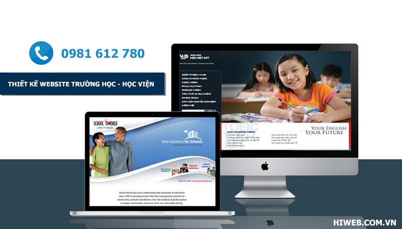 Thiết kế website trường học - HIWEB