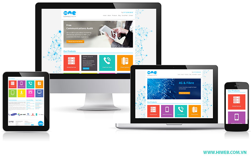 Hỗ trợ responsive website - HIWEB