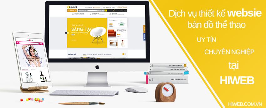 Dịch vụ thiết kế website bán đồ thể thao - HIWEB