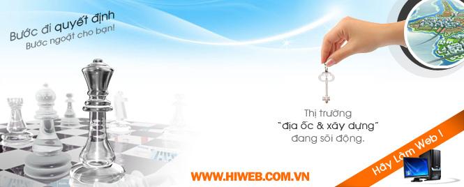 Thiết kế website mua bán nhà đất - HIWEB