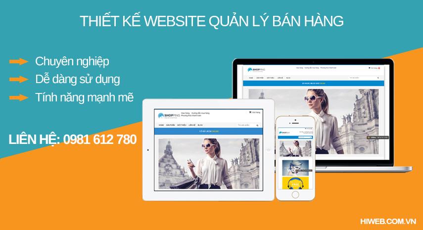 Thiết kế website quản lý bán hàng online - HIWEB