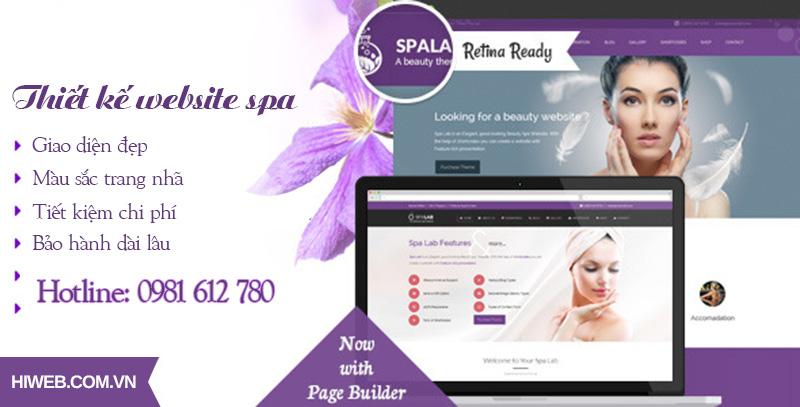 Thiết kế website spa - HIWEB