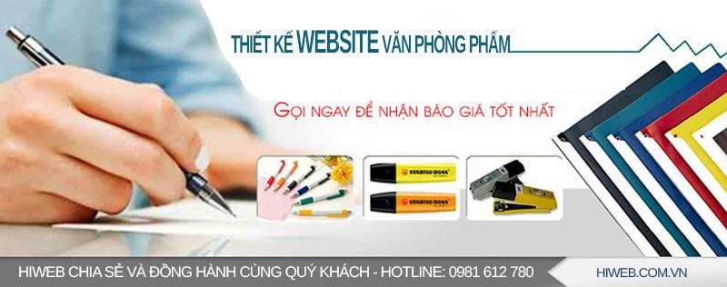 Thiết kế website văn phòng phẩm - HIWEB