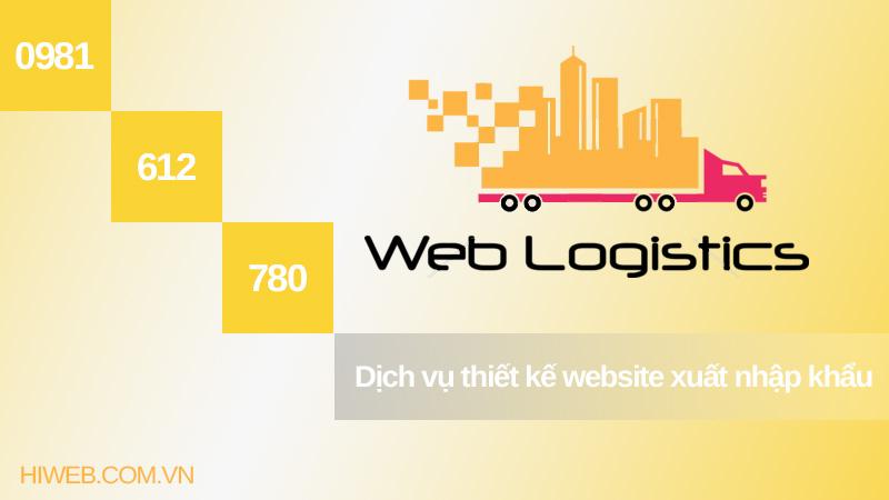 Thiết kế website xuất nhập khẩu - HIWEB