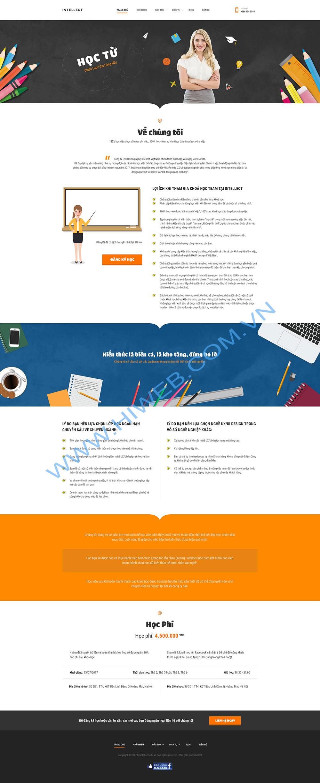 Mẫu thiết kế website trung tâm dạy đồ họa - HIWEB