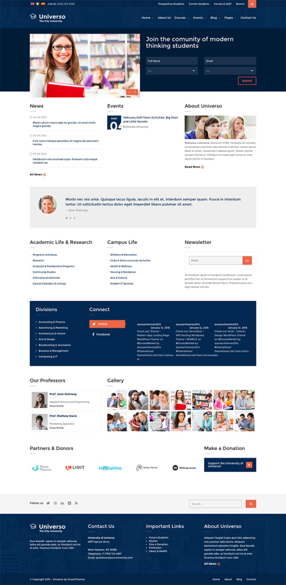Mẫu website giáo dục đào tạo M001