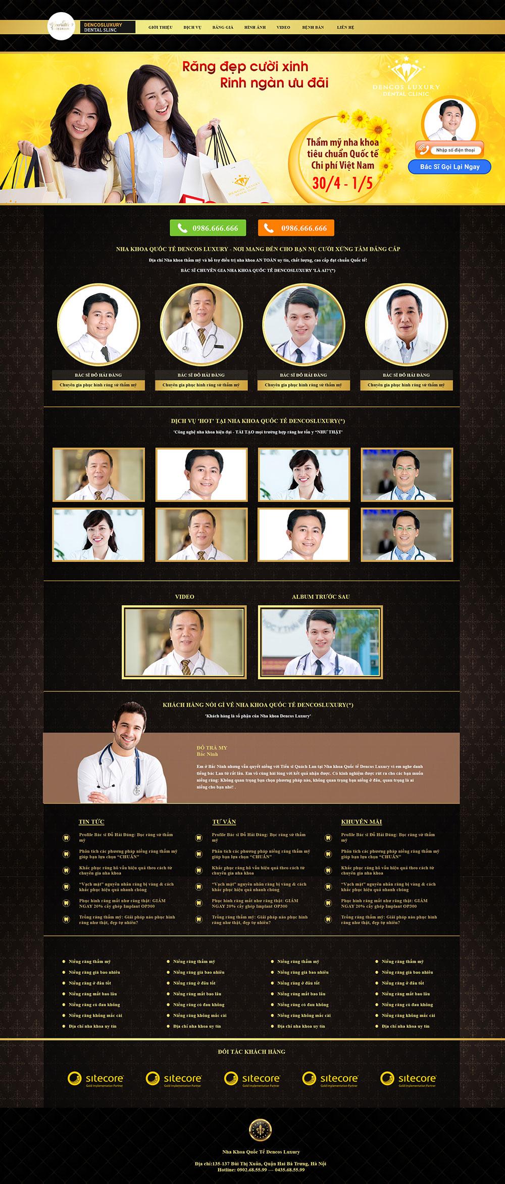 Mẫu thiết kế website phòng khám nha khoa - HIWEB