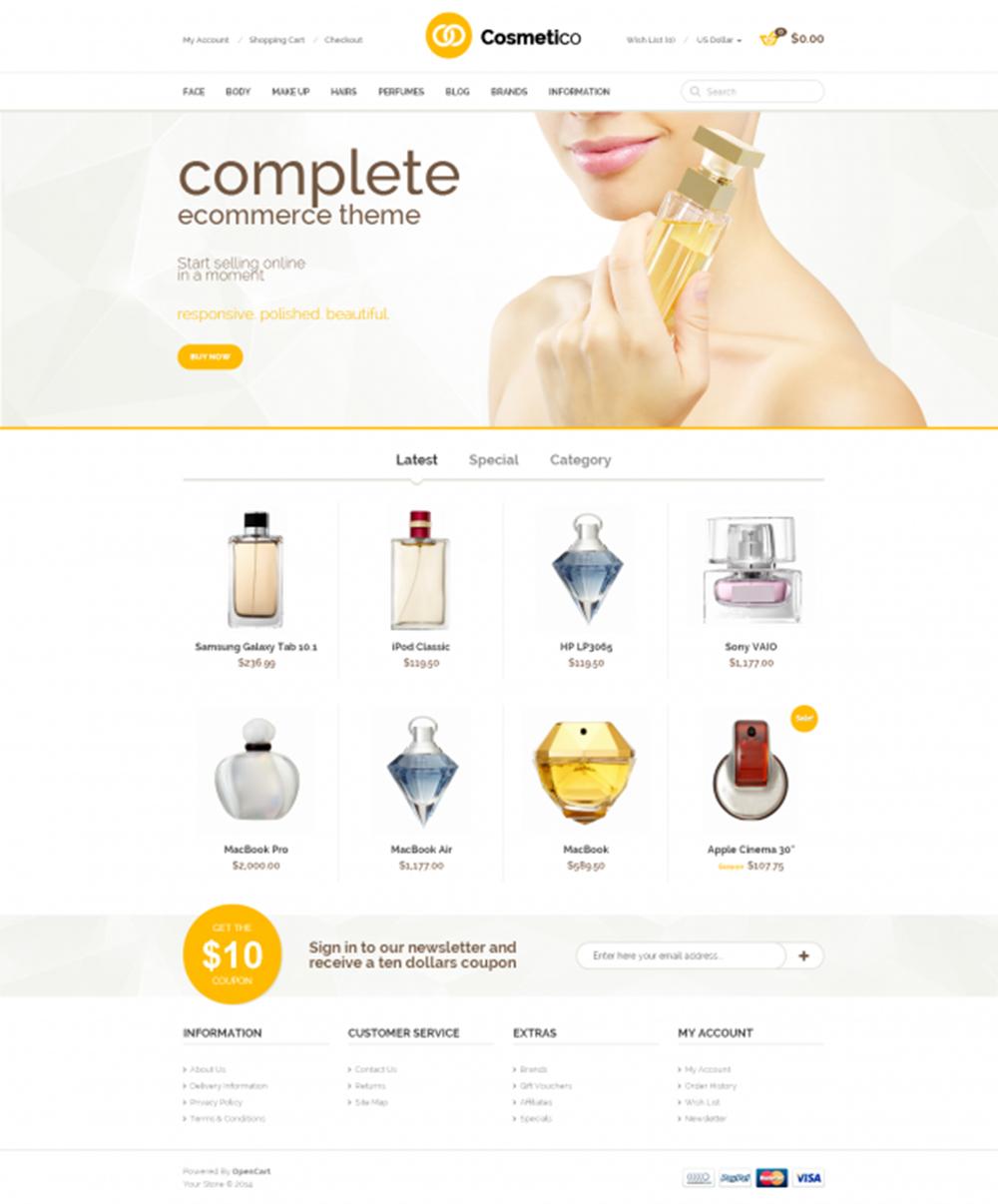 Mẫu website mỹ phẩm M001 - Hiweb