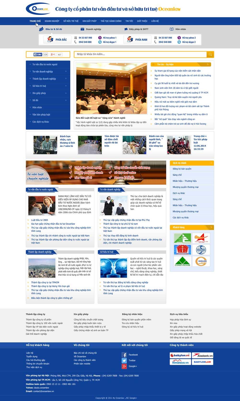 Mẫu website công ty luật M001